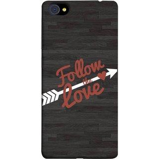 FUSON Designer Back Case Cover For Vivo X7 (Hearts Alone Arrow White Follow Worlds)