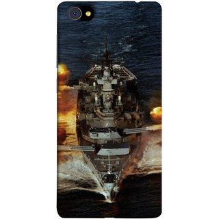 FUSON Designer Back Case Cover For Vivo X7 Plus (Indian Submarine Shoots Ship With Missile Training )