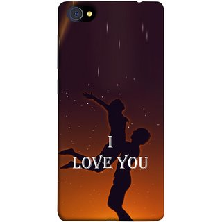 FUSON Designer Back Case Cover For Vivo X7 Plus (I Love You Wallpapers Flowers Lovers Boyfriends )