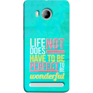 FUSON Designer Back Case Cover For Vivo Xshot :: Vivo X Shot (To Be Wonderful Inspirational Quotes Life Green Back)