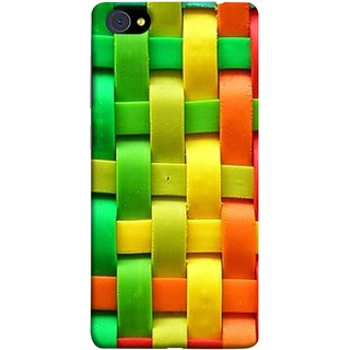 FUSON Designer Back Case Cover For Vivo X7 Plus (Bright And Beautiful Colour Strips And Band Wave )