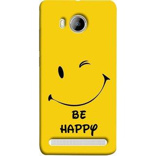 FUSON Designer Back Case Cover For Vivo Xshot :: Vivo X Shot (Yellow Background Cute Smiling Smiley Big Smile)