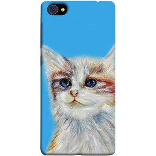 FUSON Designer Back Case Cover For Vivo X7 Plus (Dog Cat Kitten Whisker Puppy Triangle Rectangle)