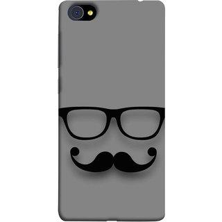 FUSON Designer Back Case Cover For Vivo X7 Plus (Mustache Glasses T-Shirt Young Boys Back Cover)