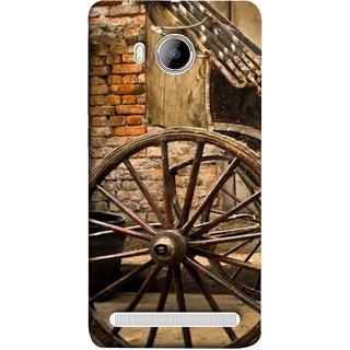 FUSON Designer Back Case Cover For Vivo Xshot :: Vivo X Shot (Wheel Hay Cart Old Wagons Indian Cycle Rickshow)