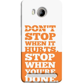 FUSON Designer Back Case Cover For Vivo Xshot :: Vivo X Shot (Stop When You Are Done Always See Targets )