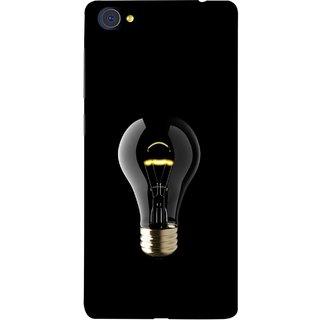 FUSON Designer Back Case Cover For Vivo X7 Plus (Hanging Light Bulb In Dark Room Ceiling Darkness )