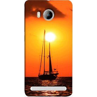 FUSON Designer Back Case Cover For Vivo Xshot :: Vivo X Shot (Sailboat Sailing On The Beautiful Greek Sea Sunset )