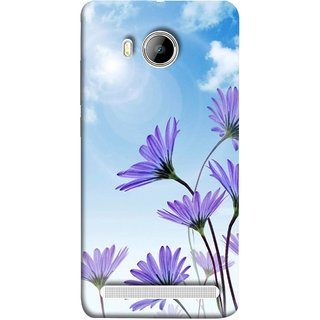 FUSON Designer Back Case Cover For Vivo Xshot :: Vivo X Shot (Daisy Flower Garden Blue Sky White Clouds )