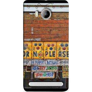 FUSON Designer Back Case Cover For Vivo Xshot :: Vivo X Shot (Decorated Goods Carrier On Indian Road Stop Dil Tera)