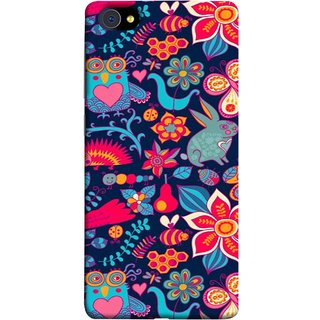 FUSON Designer Back Case Cover For Vivo X5Pro :: Vivo X5 Pro (Blue Background Leaves Farm Fruits Food Honey Bee)
