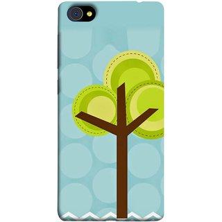 FUSON Designer Back Case Cover For Vivo X7 Plus (Brown Branches Hand Artwork Green Leaves Water )