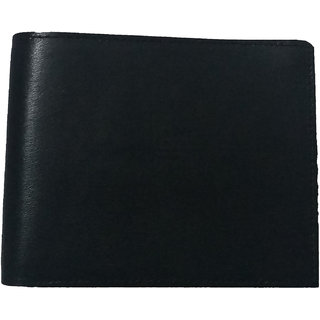 DIME Black Pure Leather Wallet for Men Matt Finish