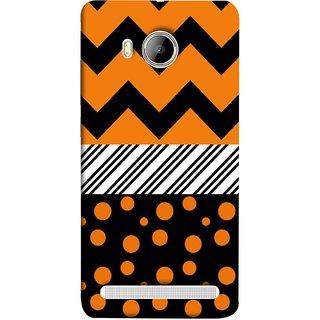 FUSON Designer Back Case Cover For Vivo Xshot :: Vivo X Shot (Pack Craft Paper Orange Dots On Black Background)