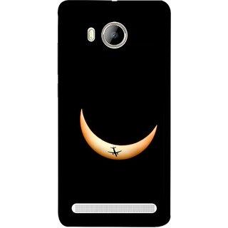 FUSON Designer Back Case Cover For Vivo Xshot :: Vivo X Shot (Black Background Yellow Moon Beam Lovely Picture)
