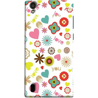 FUSON Designer Back Case Cover For Vivo Y15S :: Vivo Y15 (Love You Pink Yellow Hearts Snow Red Flowers Garden )
