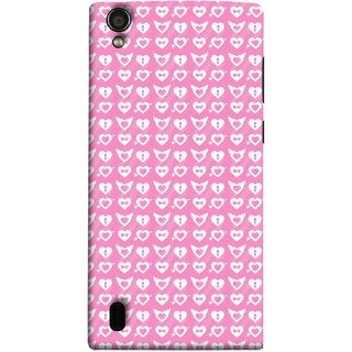 FUSON Designer Back Case Cover For Vivo Y15S :: Vivo Y15 (Valentine Pink Metallic Cool Peace Sign Symbol Pillow)