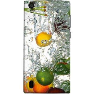 FUSON Designer Back Case Cover For Vivo Y15S :: Vivo Y15 (Lot Of Green Yellow Lemons Apples Fruits )