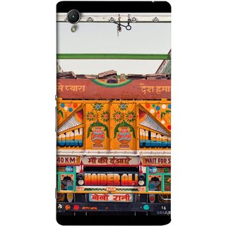 FUSON Designer Back Case Cover For Sony Xperia Z1 :: Sony Xperia Z1 L39h :: Sony Xperia Z1 C6902/L39h :: Sony Xperia Z1 C6903 :: Sony Xperia Z1 C6906 :: Sony Xperia Z1 C6943  (Decorated Goods Carrier On Indian Road Stop Dil Tera)