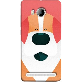 FUSON Designer Back Case Cover For Vivo Xshot :: Vivo X Shot (Big Smiling Puppy Canvas Painting Close Up Photo)