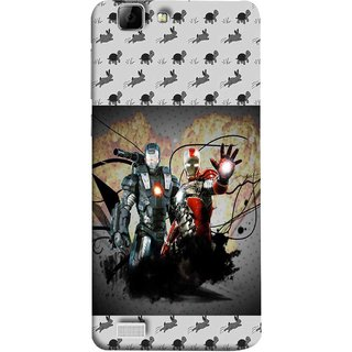 FUSON Designer Back Case Cover For Vivo Y27 :: Vivo Y27L (Action Hero Childrens Superhero Ironman Vs Black Ironman )