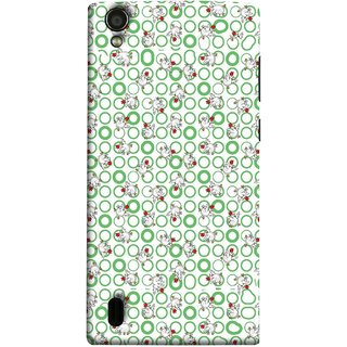 FUSON Designer Back Case Cover For Vivo Y15S :: Vivo Y15 (Small Green Circles On White Bottom Color Printed On Cotton)