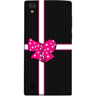 FUSON Designer Back Case Cover For Vivo Y15S :: Vivo Y15 (Gift Box Wrapped In Black And White Striped Paper)