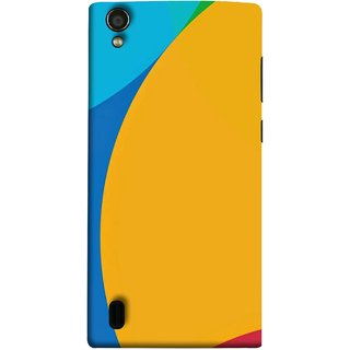 FUSON Designer Back Case Cover For Vivo Y15S :: Vivo Y15 ( Large Medium Circles Orange Yellow Red Blue Grey)