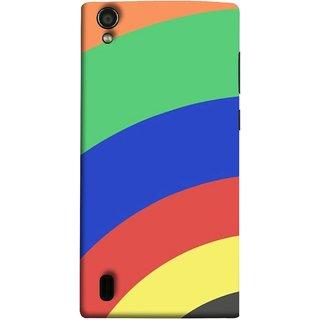 FUSON Designer Back Case Cover For Vivo Y15S :: Vivo Y15 ( Large Medium Circles Orange Yellow Red Blue Grey)