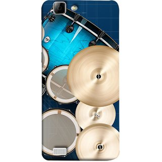 FUSON Designer Back Case Cover For Vivo Y27 :: Vivo Y27L (Drum Set Musical Instrument Four Piece Shell Pack)