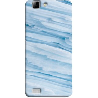 FUSON Designer Back Case Cover For Vivo Y27 :: Vivo Y27L (Deep Grooves Side Blue Iceberg Floating Antarctic)