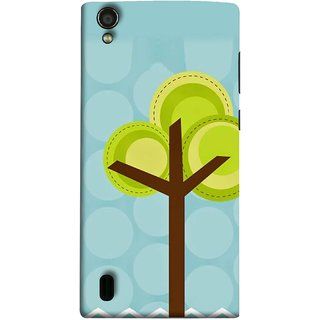 FUSON Designer Back Case Cover For Vivo Y15S :: Vivo Y15 (Brown Branches Hand Artwork Green Leaves Water )