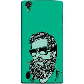 FUSON Designer Back Case Cover For Vivo Y15S :: Vivo Y15 (Full Thick Black Beard Man Men Glasses Mustache)