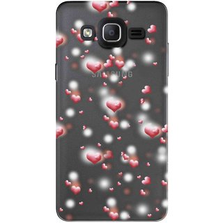 Snooky Printed Heart Pattern Mobile Back Cover of Samsung Galaxy On7 Pro - Multicolour