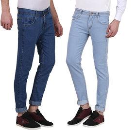 X-Cross Snappy Denim Slim Fit Jeans For Men-Pack Of 2Pcs