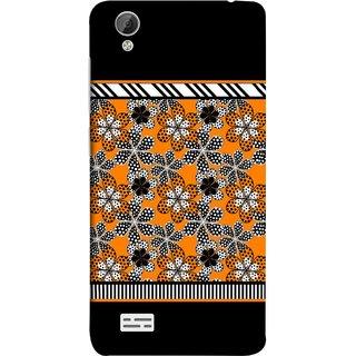 FUSON Designer Back Case Cover For Vivo Y31 :: Vivo Y31L (White Gray Yellow