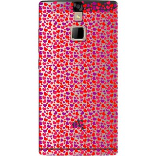 Snooky Printed Color Heart Mobile Back Cover of Micromax Canvas 6 - Multicolour