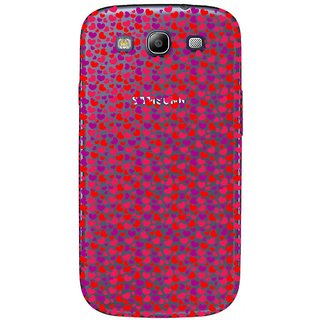 Snooky Printed Color Heart Mobile Back Cover of Samsung Galaxy S3 - Multicolour