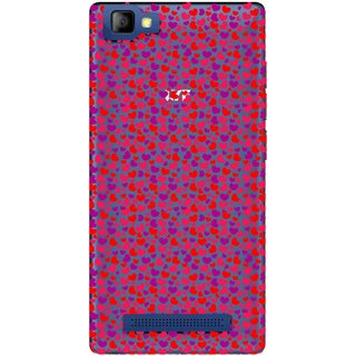 Snooky Printed Color Heart Mobile Back Cover of LYF Flame 8 - Multicolour
