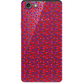Snooky Printed Color Heart Mobile Back Cover of Oppo A33T - Multicolour