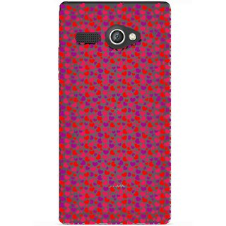 Snooky Printed Color Heart Mobile Back Cover of Lava Flair P1 - Multicolour