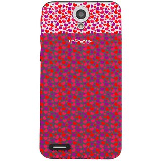 Snooky Printed Color Heart Mobile Back Cover of InFocus M260 - Multicolour