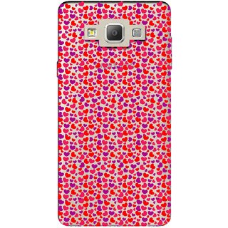 Snooky Printed Color Heart Mobile Back Cover of Samsung Galaxy A5 - Multicolour