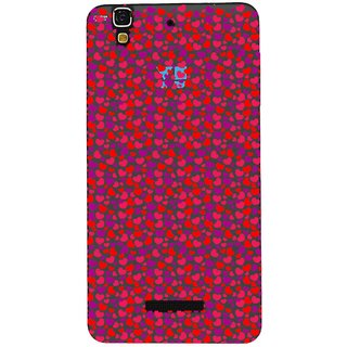 Snooky Printed Color Heart Mobile Back Cover of Micromax YU YUREKA - Multicolour
