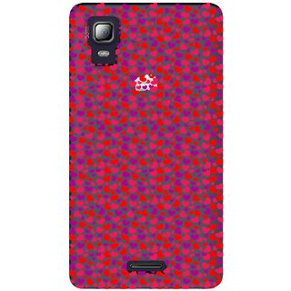 Snooky Printed Color Heart Mobile Back Cover of Micromax Canvas Doodle 3 A102 - Multicolour