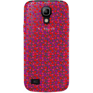Snooky Printed Color Heart Mobile Back Cover of Samsung Galaxy S4 - Multicolour