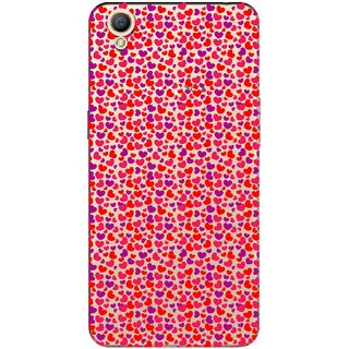 Snooky Printed Color Heart Mobile Back Cover of Oppo A37 - Multicolour
