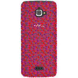 Snooky Printed Color Heart Mobile Back Cover of InFocus M350 - Multicolour