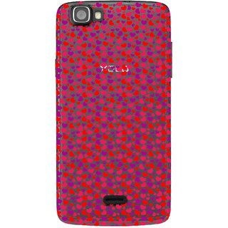 Snooky Printed Color Heart Mobile Back Cover of Xolo One - Multicolour