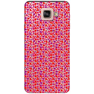 Snooky Printed Color Heart Mobile Back Cover of Samsung Galaxy A7 2016 - Multicolour